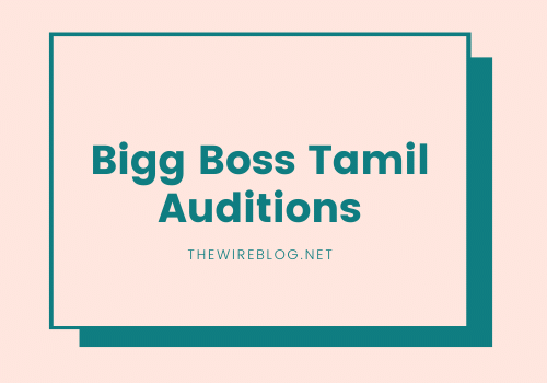 Bigg boss tamil registrations